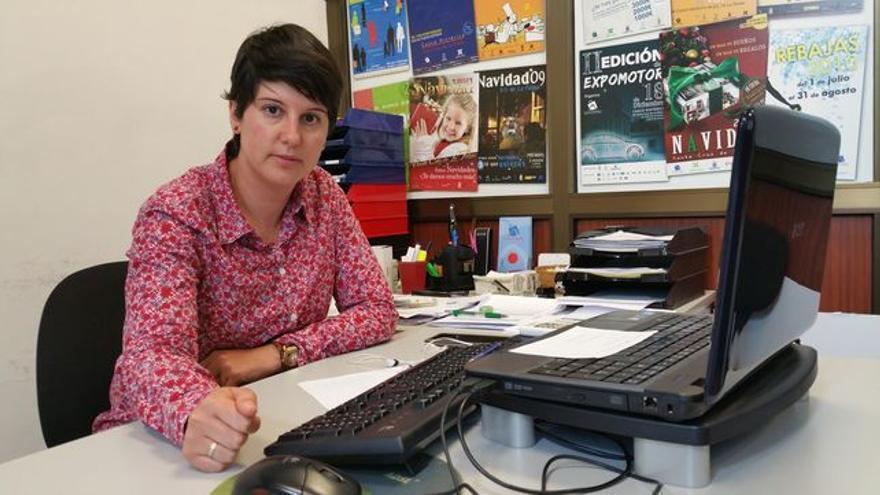 Eva Gloria Álvarez es gerente de la Asociación de Empresarios del Casco Histórico.