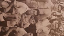 Jugadores de la UD Las Palmas que se midieron al Melilla el 25 de junio de 1950.