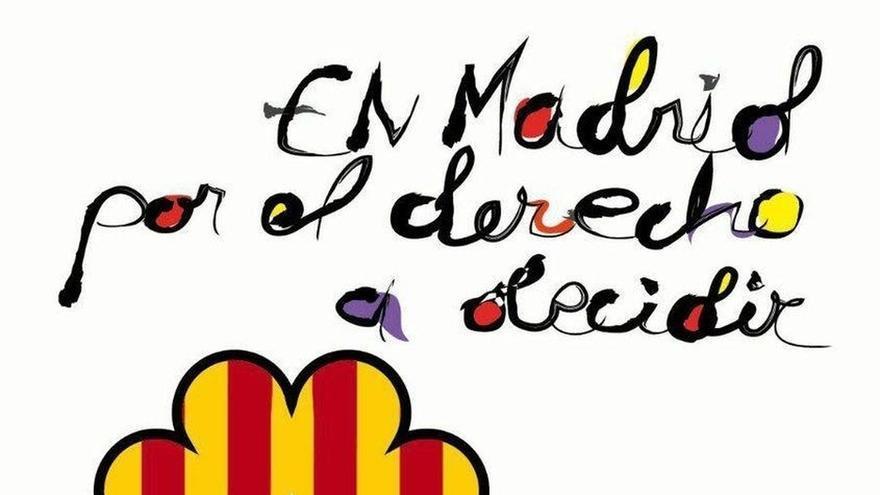 El PP exige a Carmena que prohíba el acto de apoyo al referéndum catalán por incluir el cartel una corona del revés