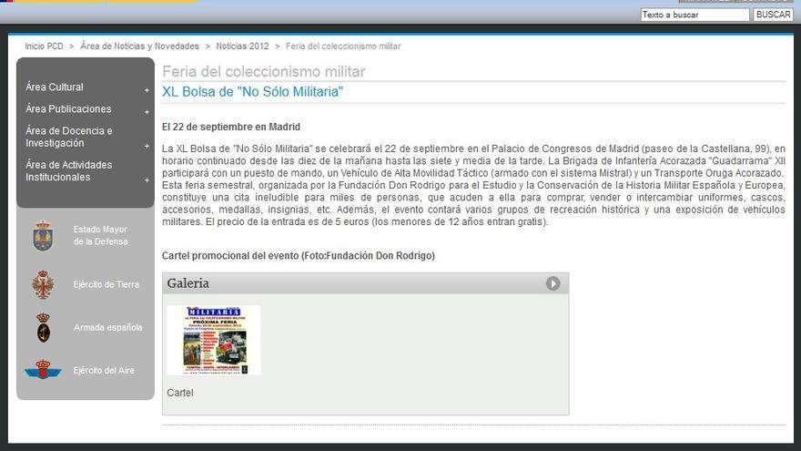 """Min. Defensa Feria """"No Solo Militaria"""""""