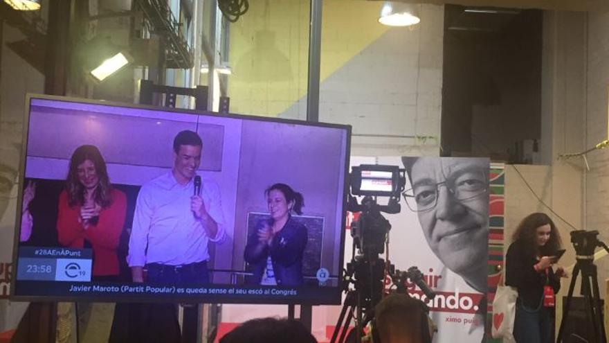 El PSPV, a la espera de celebrar su noche electoral