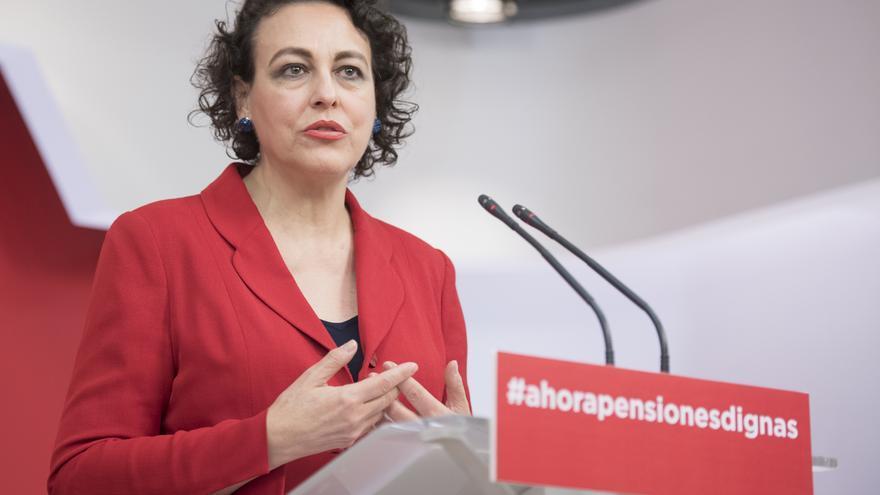 La secretaria de seguridad social y Pacto de Toledo del PSOE, Magdalena Valerio.