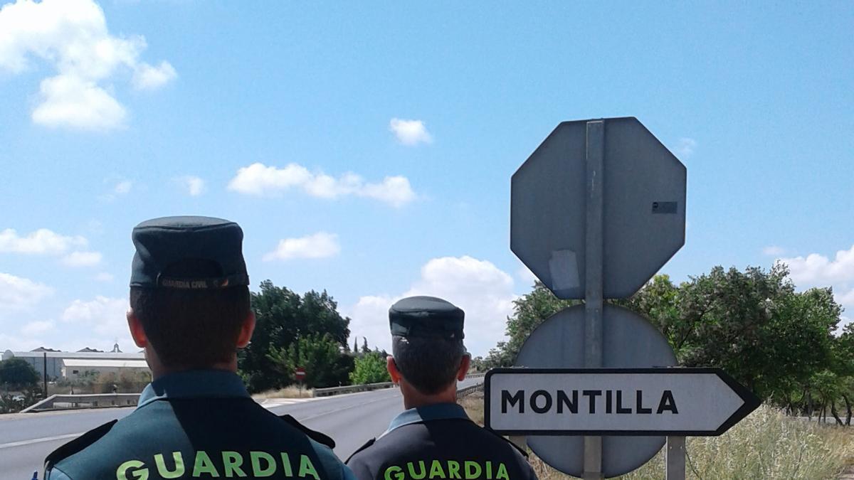 La Guardia Civil, en Montilla.