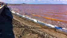 Las aguas del Mar Menor siguen turbias estos días en muchas de sus zonas