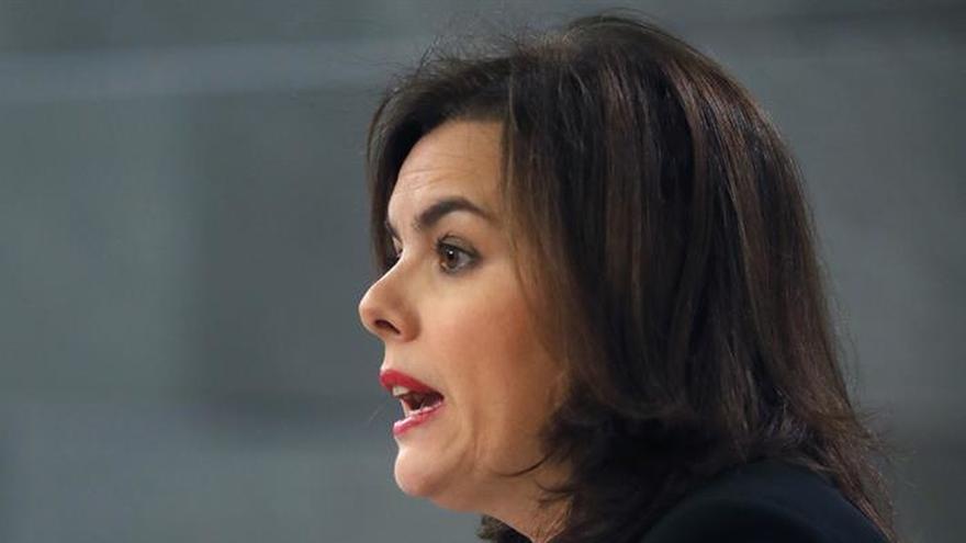 Santamaría recuerda la voluntad del Gobierno de cambiar sistema de financiación