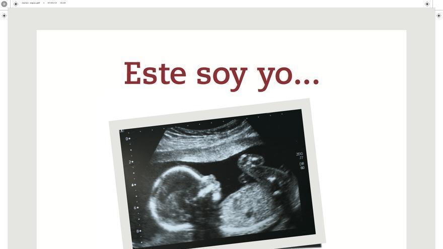 Cartel de la campaña contra el aborto de la Conferencia Episcopal, en abril de 2013.