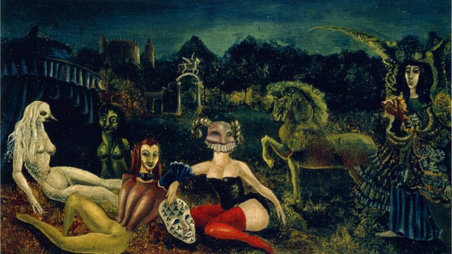 'Down below', cuadro pintado por Leonora Carrington durante su estancia en un sanatorio en Santander.