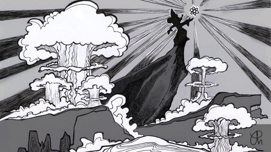 Aprendiz de brujo nuclear - Ilustracion de Yoana Novoa