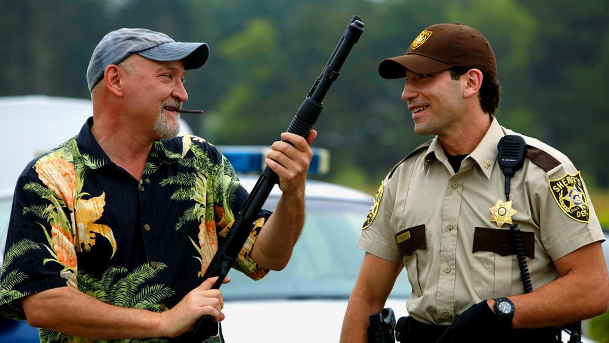 """Frank Darabont y Jon Bernthal en """"The Walking Dead"""""""