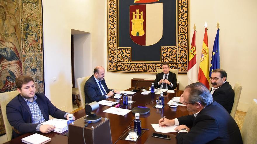 Videoconferencia del Ejecutivo castellanomanchego con el presidente del Gobierno de España