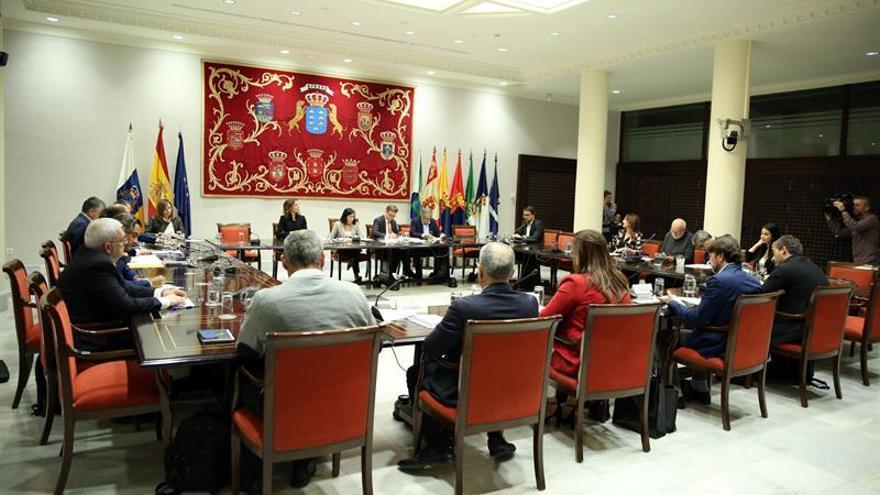 La Comisión General de Cabildos Insulares del Parlamento de Canarias se reunió para tratar la proposición de ley de Islas Verdes. EFE/ Cristóbal García