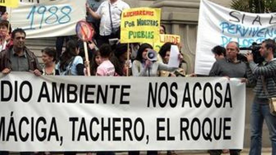 Protesta de los vecinos de Anaga.