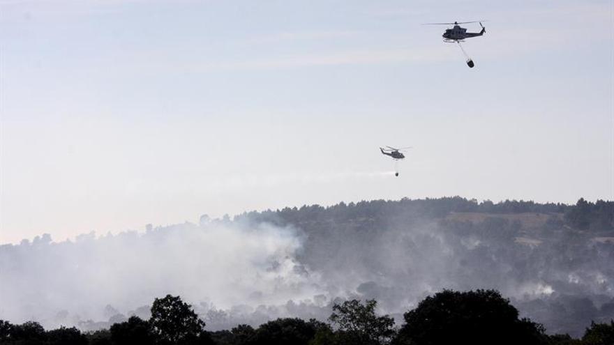Controlado el incendio forestal en la frontera portuguesa con Salamanca