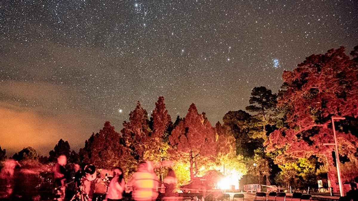 Observación del cielo estrellado.