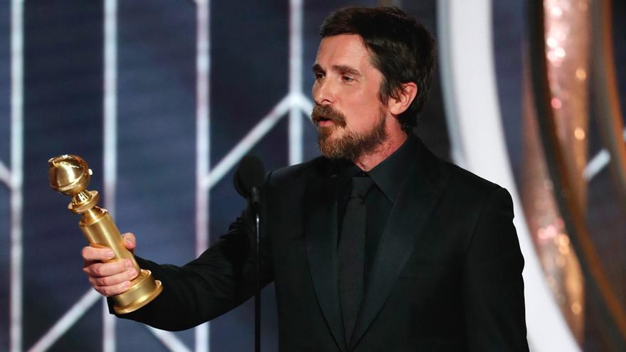 Christian Bale en los Globos de Oro 2019