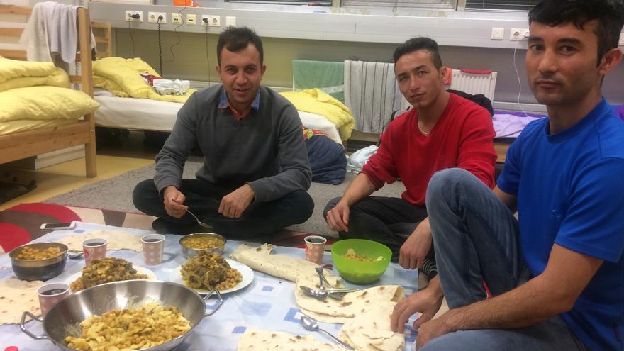 Arash Popal en el centro de refugiados en el vive en Austria. María José Carmona