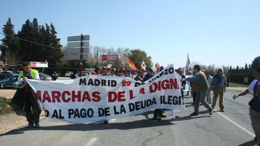 Paso de la Marcha de la Dignidad por Albacete desde Levante