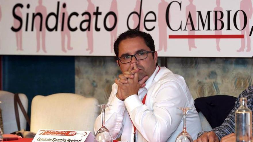 El secretario general de UGT en Canarias y candidato a la reelección, Gustavo Santana.