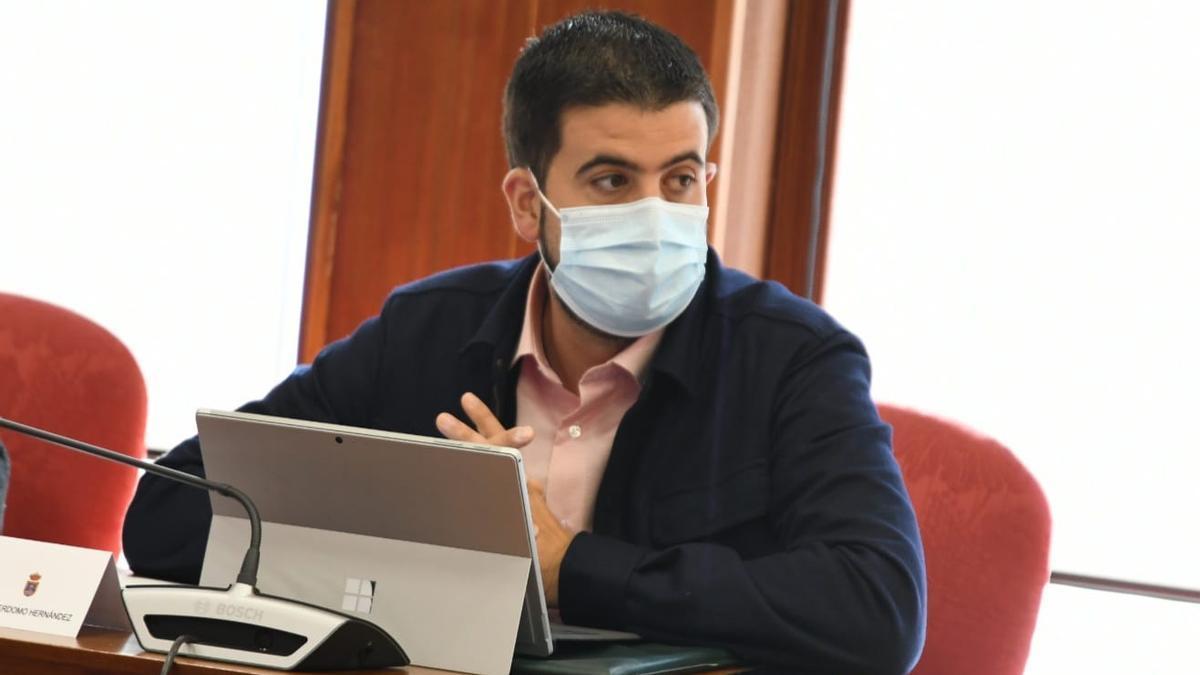 Borja Perdomo, consejero de Infraestructuras  del Cabildo de La Palma.