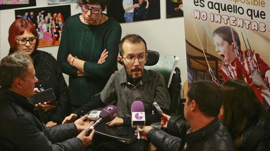 Echenique defiende que se atiendan todas necesidades de los discapacitados