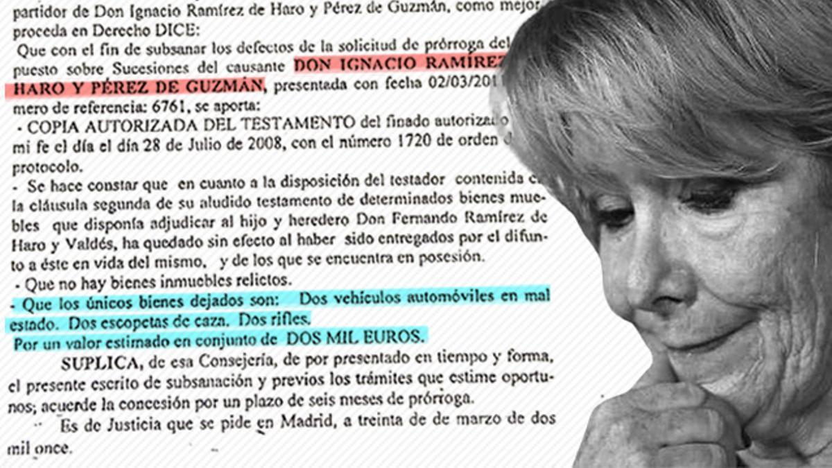 El marido de Esperanza Aguirre simuló una donación para defraudar impuestos y apropiarse del Goya, según denuncia su hermano