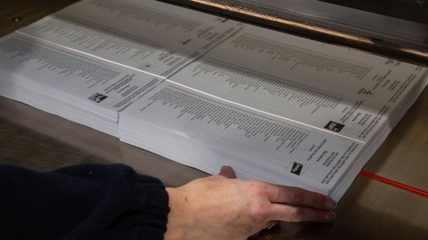 Las papeletas electorales de Cataluña