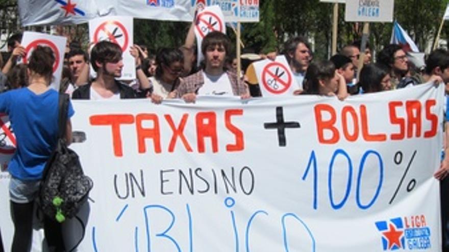 Imagen De Una De Las Pancartas De La Manifestación De Estudiantes