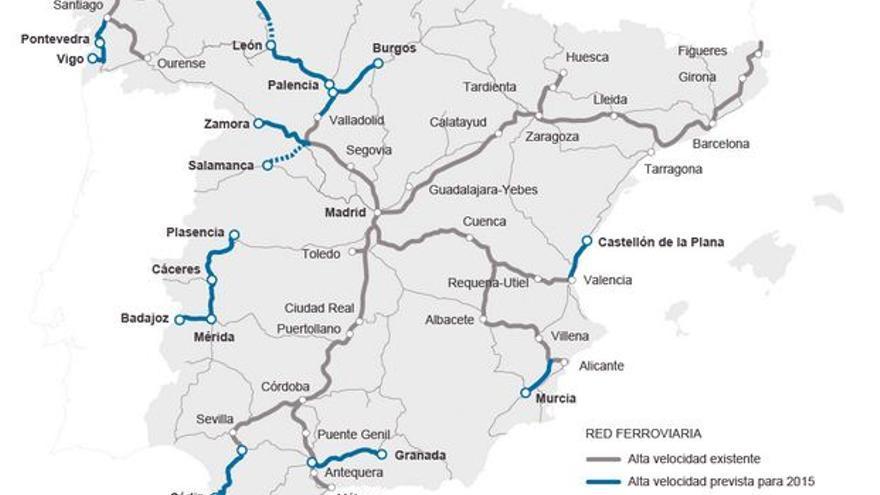 Extremadura mapa Adif 2015