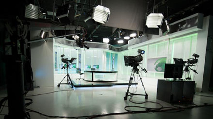 Plató de los Servicios Informativos de la Televisión Canaria