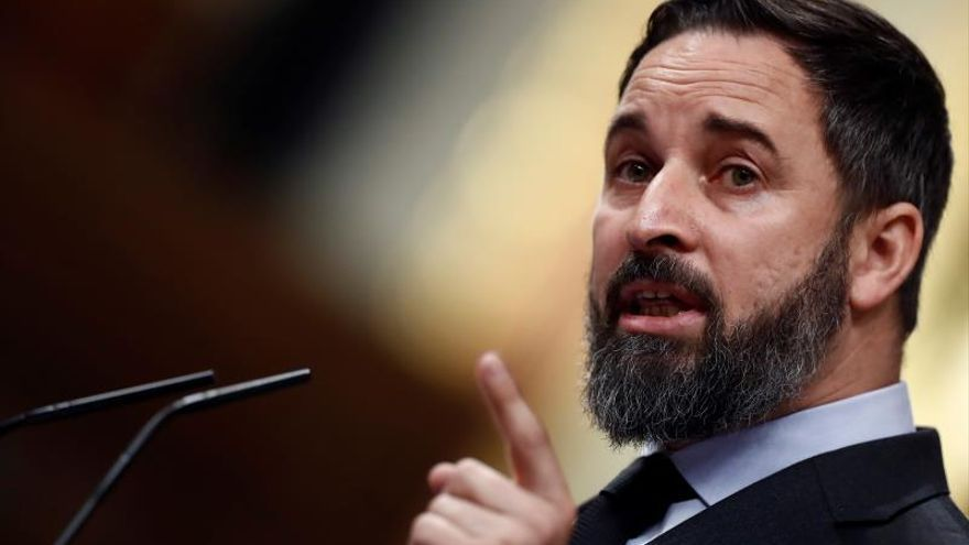 El líder de la extrema derecha de Vox, Santiago Abascal.