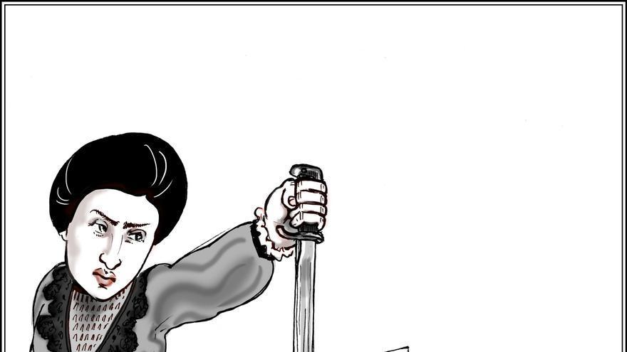 Rosa Luxemburgo/ Viñeta cedida por Kate Evans
