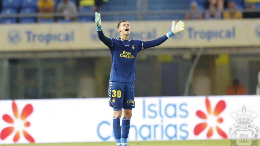 Josep durante el partido de este pasado sábado en el Gran Canaria.