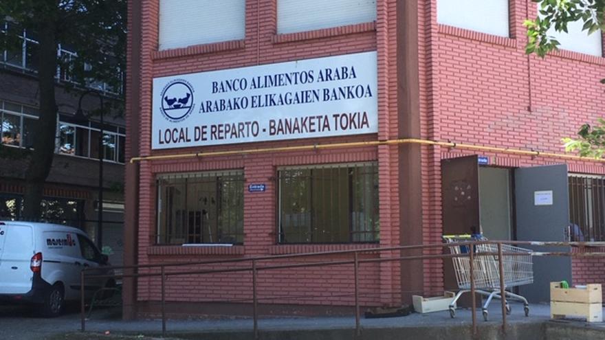 Local del Banco de Alimentos de Álava, en Vitoria.