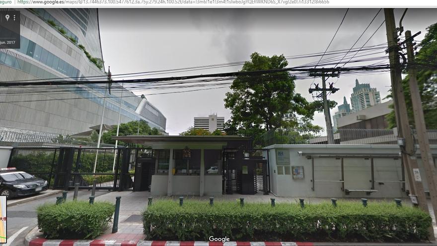 La embajada de Reino Unido en Bangkok