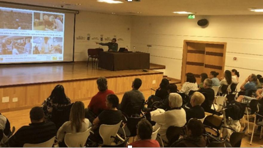 En la imagen, presentación del proyecto en el Museo Benahoarita.