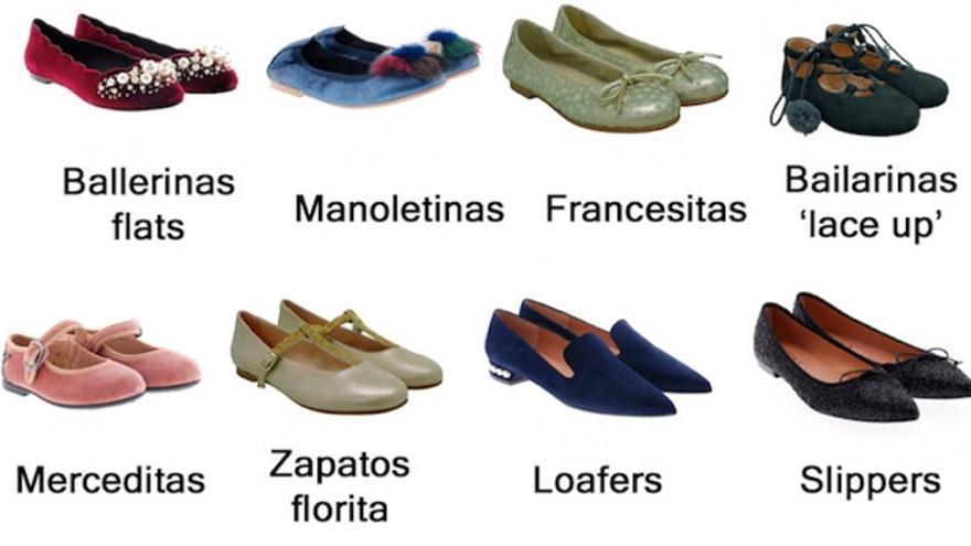 Así se llaman los distintos tipos de zapatos que se venden