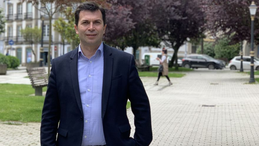 El candidato del PSdeG a la presidencia de la Xunta, Gonzalo Caballero.