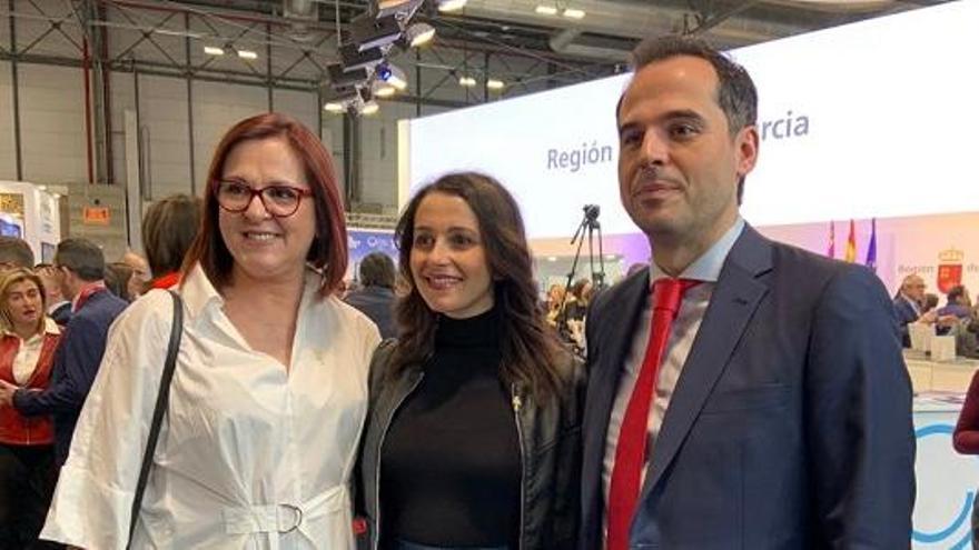 Isabel Franco, vicepresidenta de Murcia, Inés Arrimadas e Ignacio Aguado
