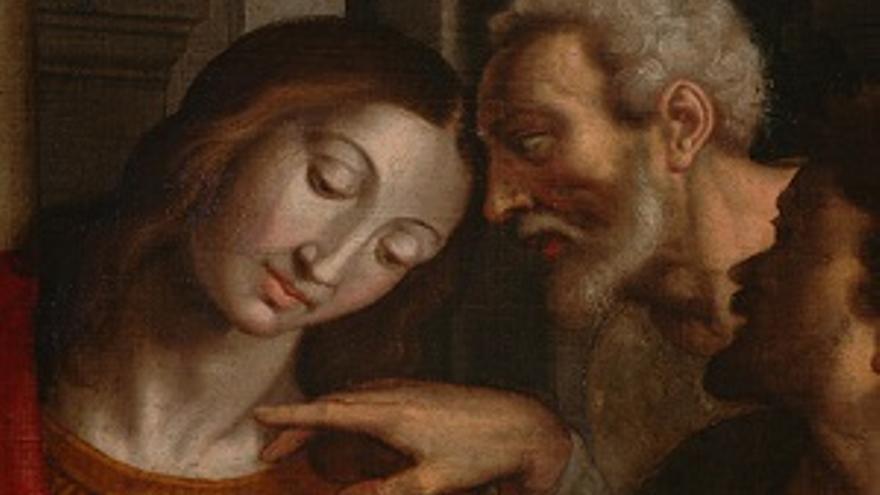 Detalle del cuadro de La Santa Cena.