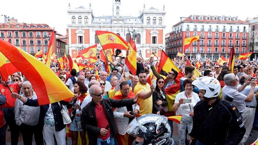 Más de 5.500 concentrados en Castilla y León en defensa de unidad de España