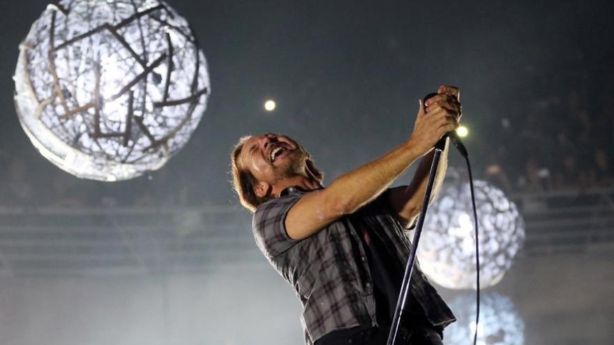 Edie Vedder, vocalista de Pearl Jam en el Mad Cool