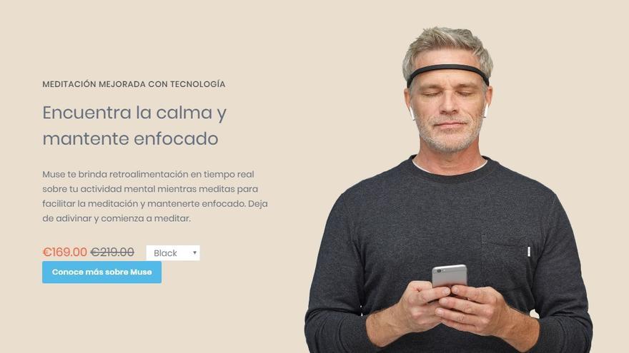 Muse, dispositivo que afirma poder leer las ondas cerebrales para mejorar la concentración y facilitar la meditación.