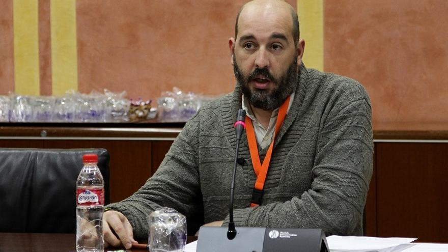 Rivero, durante una intervención en el Parlamento de Andalucía