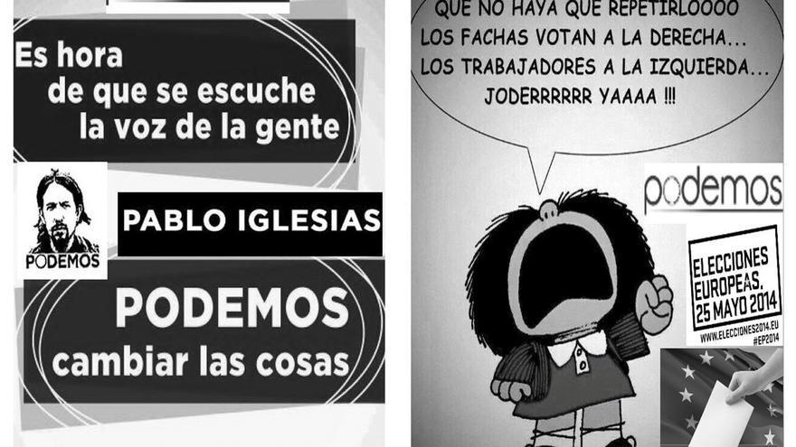 Propaganda electoral que no pudo colgar en Torreblanca.