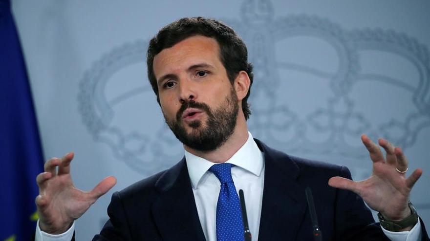 El líder Partido Popular (PP), Pablo Casado