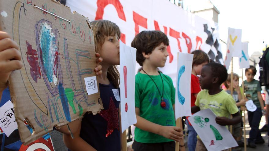 Manifestación 'Cole Centro Ya'. / J.M.B.