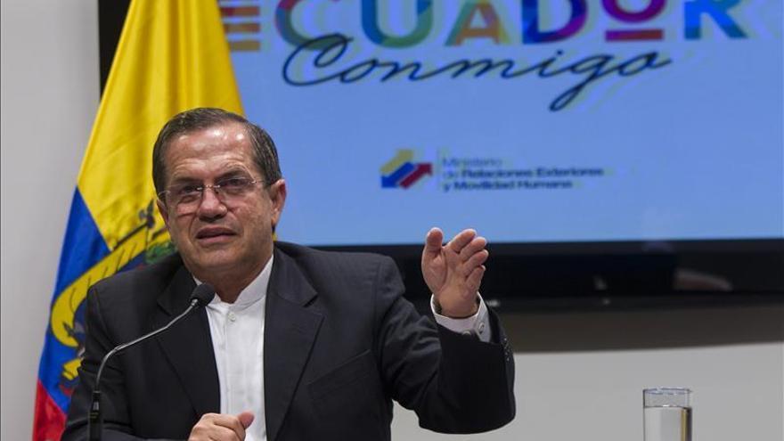 El canciller de Ecuador dice que tienen mucho optimismo y esperanza en la cita de Quito