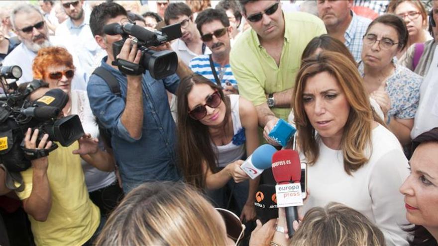 Susana Díaz: Podemos, C's e IU no podrán explicar que voten junto con el PP