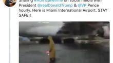 Captura del tuit de Dan Scavino en el que confunde el aeropuerto de Ciudad de México con el de Miami.