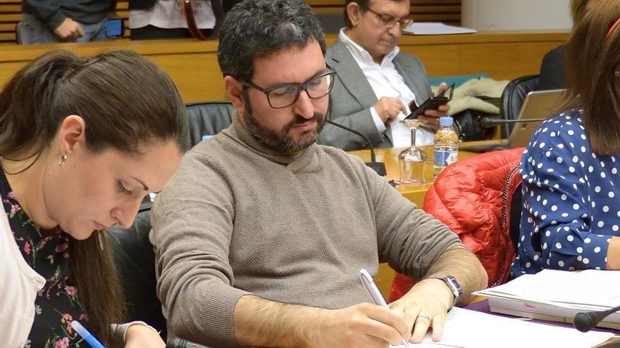 David Torres, portavoz de Podem en la Comisión de Economía de les Corts